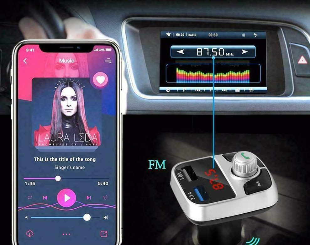 FM Bluetooth transmiteris