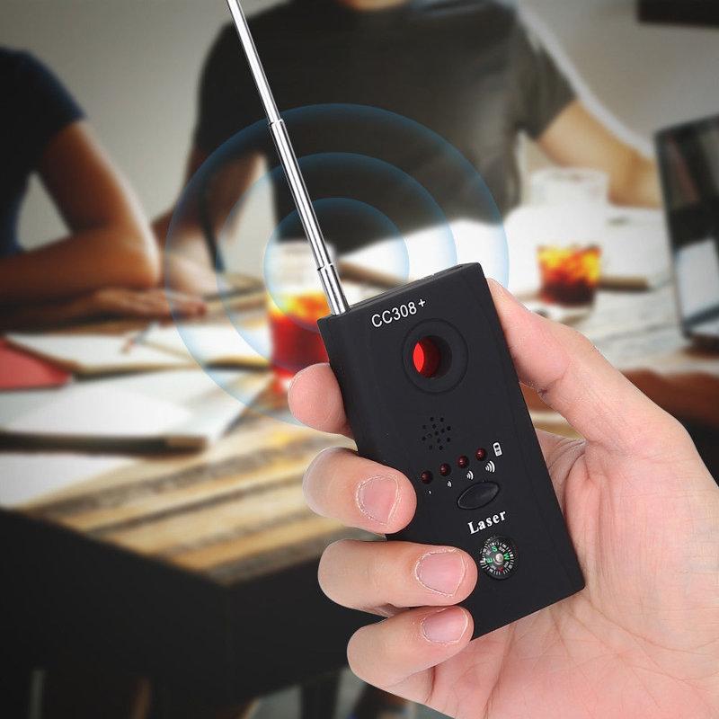 Pasiklausymo ir vaizdo stebėjimo įrangos detektorius