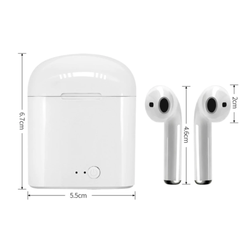 Belaidės Bluetooth ausinės su krovimo dėžute