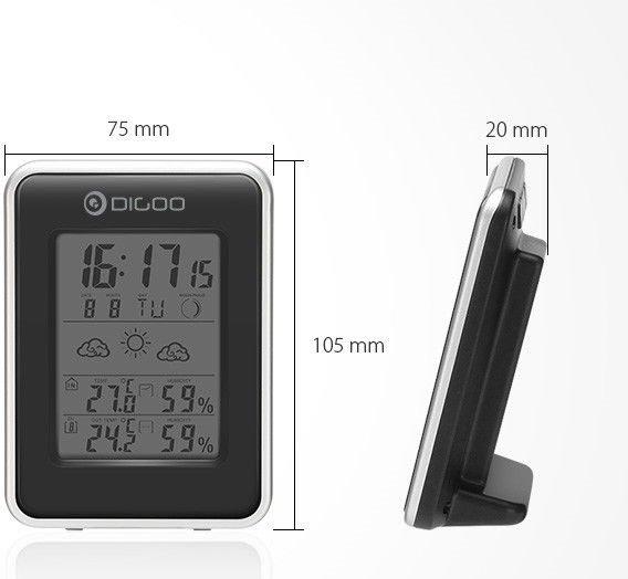Meteorologinė orų stotelė / laikrodis DIGOO