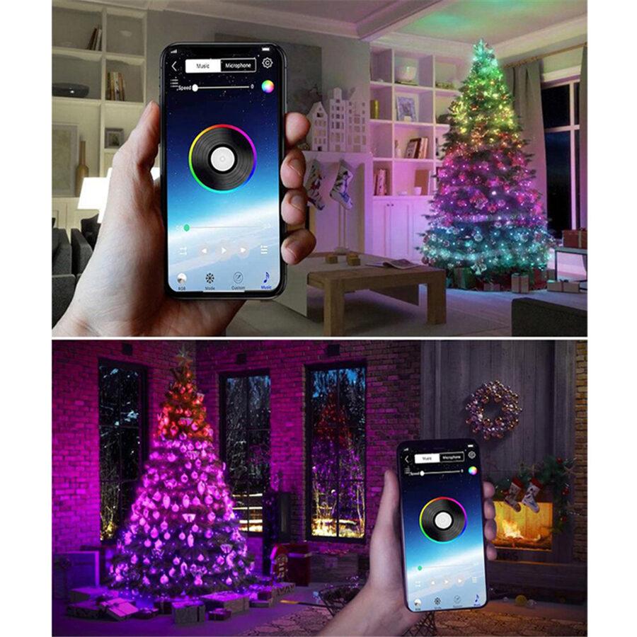 Kalėdinės lemputės su Bluetooth