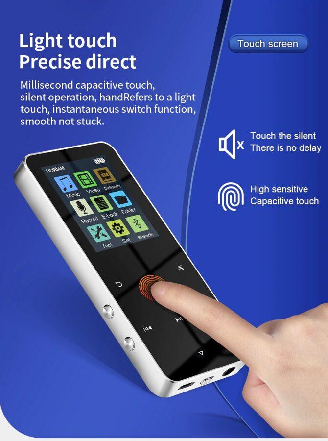 MP3/MP4 grotuvas 4GB su Bluetooth