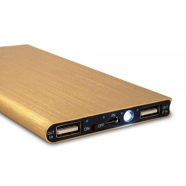 Power bank / išorinė baterija SLIM ALUMINIUM