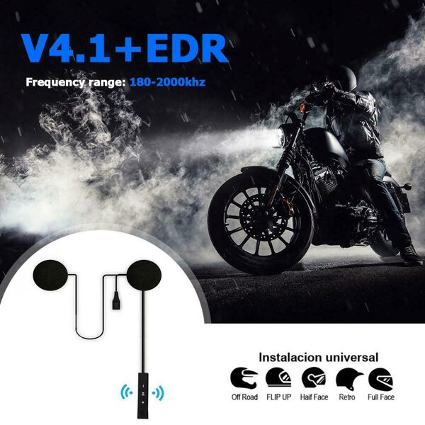 Bluetooth motorcycle helmet headphones