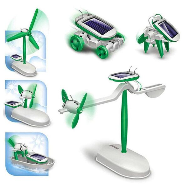 Educational solar toy 6 in 1