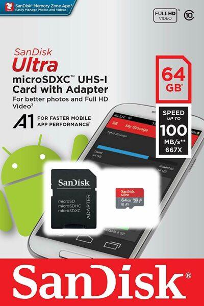 Atminties kortelė Sandisk Ultra 64GB